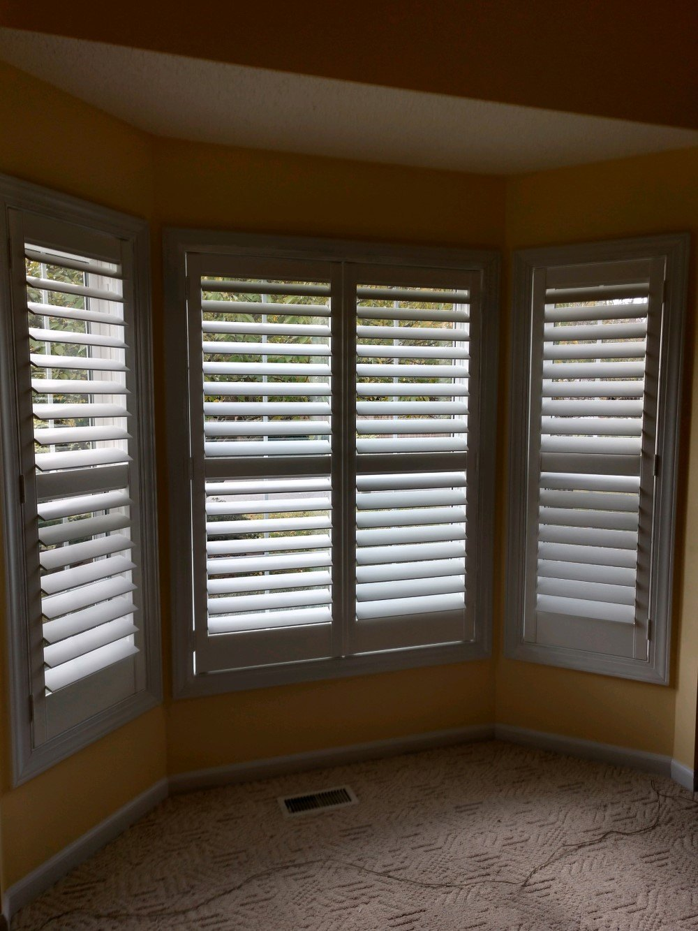 Bay Window Shutters Installed In Raleigh Nc