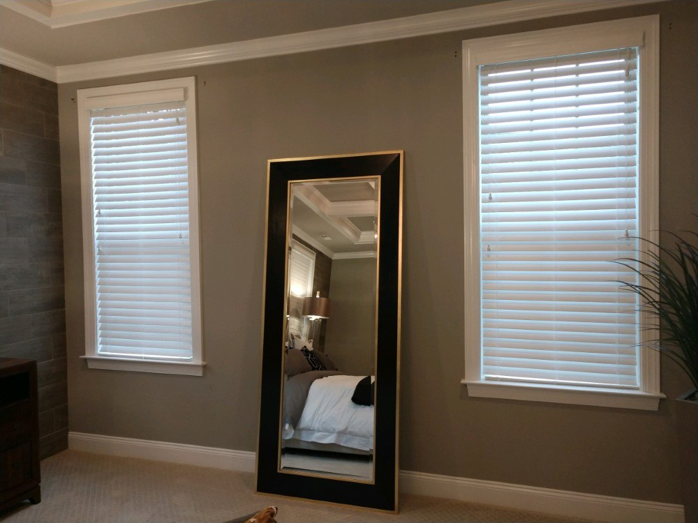 Faux Wood Blind Installed In Apex Nc