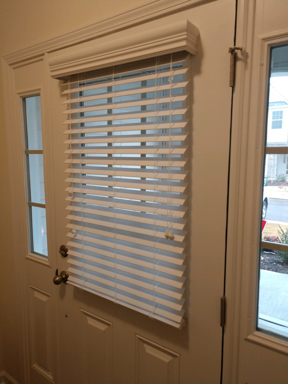 White Faux Wood Blinds In Wake Forest Nc