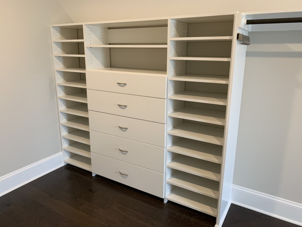 Custom Closet Organizational System In Raleigh Nc