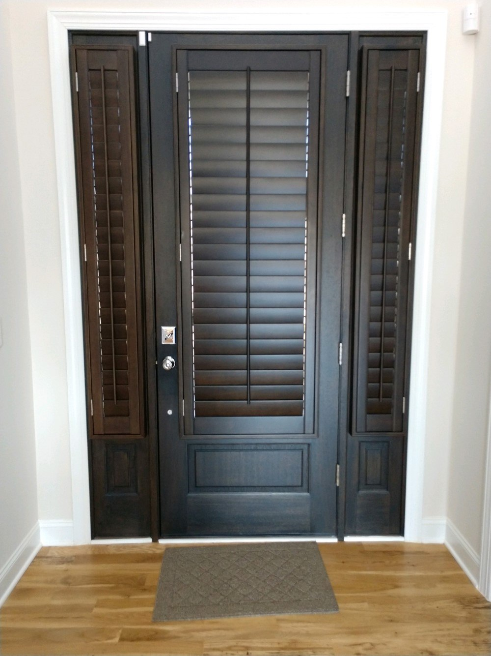 Real Wood Shutters For Front Door In Raleigh Nc